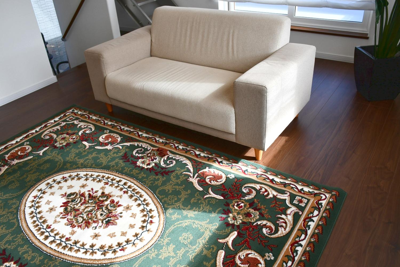 グリーン 絨毯 ラグ 画像