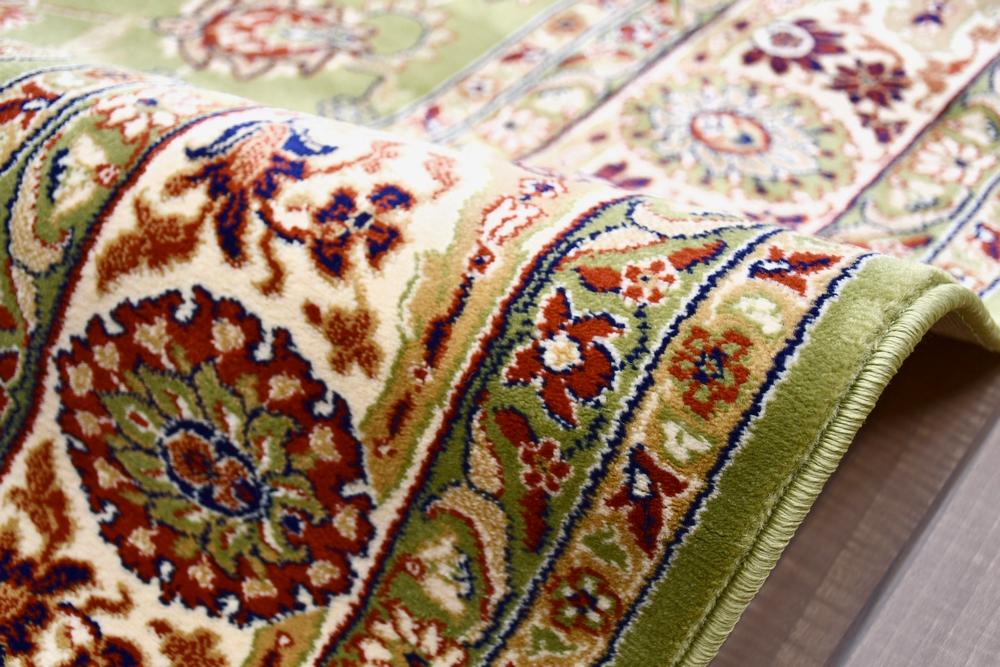 赤 緑 絨毯 ラグ 画像