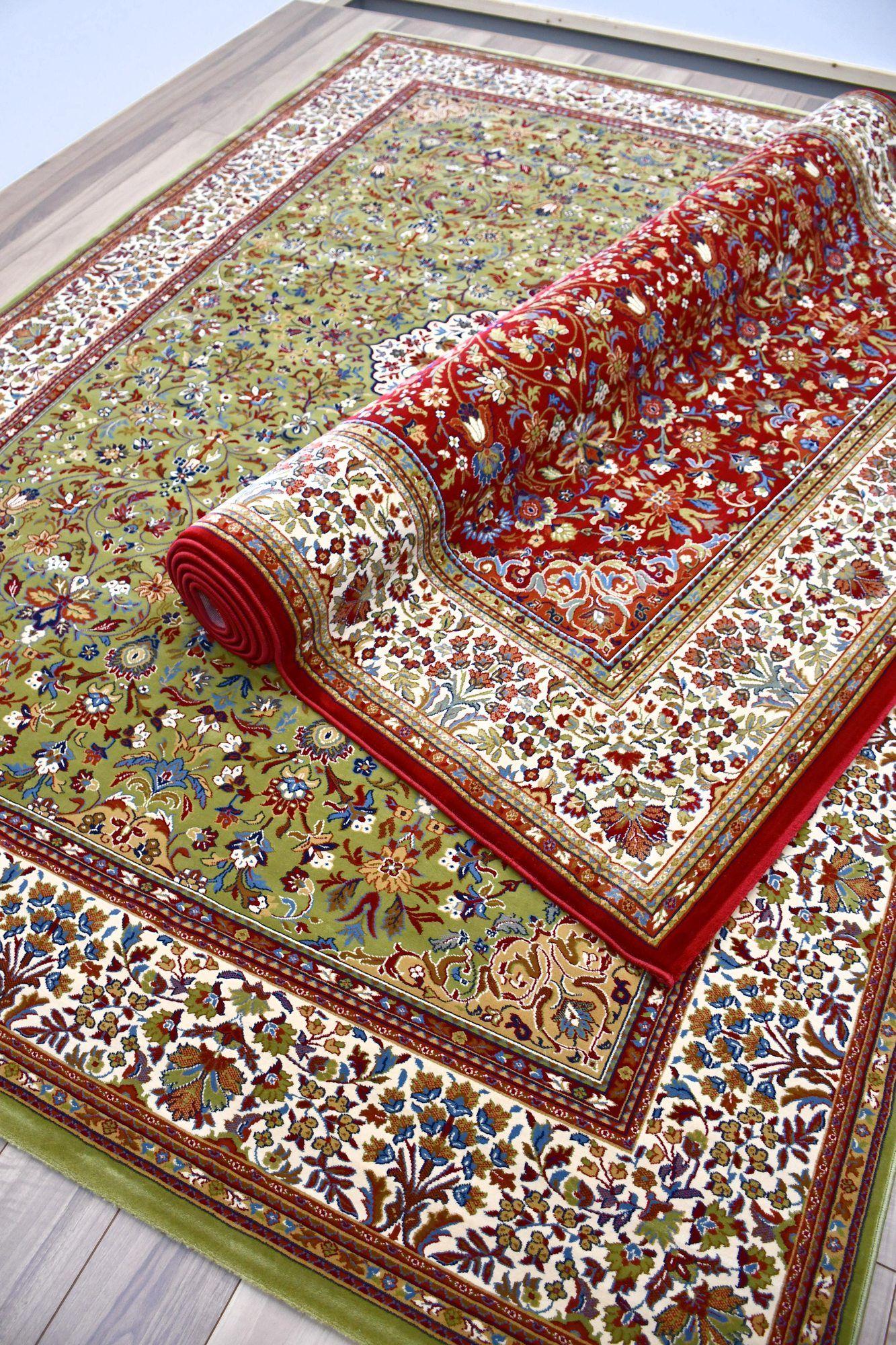 絨毯 ラグ 画像 赤 緑