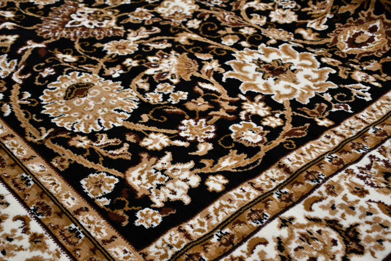 ブラック ラグ 絨毯 画像