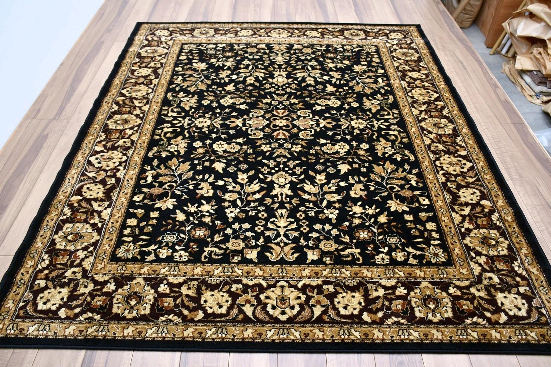 黒 ブラック 絨毯 ラグ 画像
